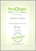 certificateRECOLIGHT